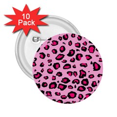 Pink Leopard 2 25  Buttons (10 Pack)