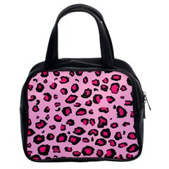Pink Leopard Classic Handbags (2 Sides)