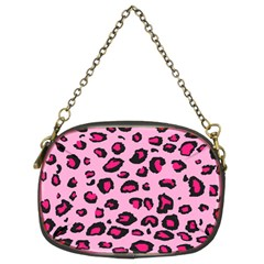 Pink Leopard Chain Purses (two Sides)