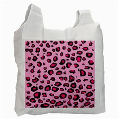 Pink Leopard Recycle Bag (one Side)