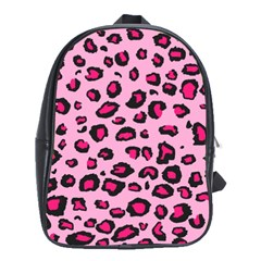 Pink Leopard School Bag (large)