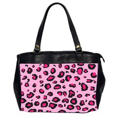 Pink Leopard Office Handbags (2 Sides)