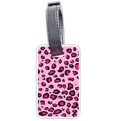 Pink Leopard Luggage Tags (one Side)