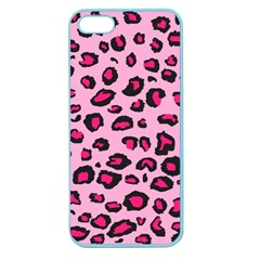 Pink Leopard Apple Seamless Iphone 5 Case (color)