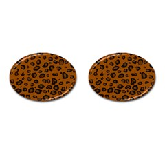 Dark Leopard Cufflinks (oval)