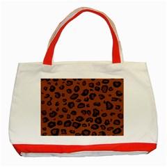 Dark Leopard Classic Tote Bag (red)