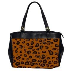 Dark Leopard Office Handbags (2 Sides)