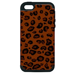 Dark Leopard Apple Iphone 5 Hardshell Case (pc+silicone)