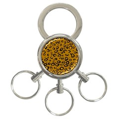 Golden Leopard 3 Ring Key Chains