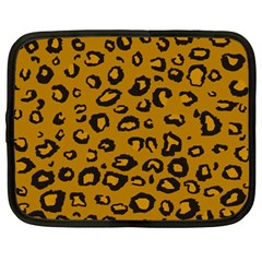 Golden Leopard Netbook Case (large)