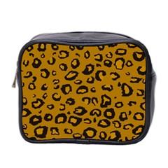 Golden Leopard Mini Toiletries Bag 2 Side