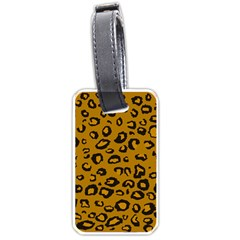 Golden Leopard Luggage Tags (two Sides)