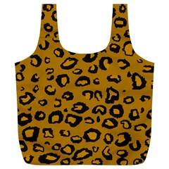 Golden Leopard Full Print Recycle Bags (l)
