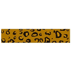 Golden Leopard Flano Scarf (small)