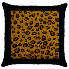 Classic Leopard Throw Pillow Case (black)