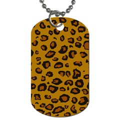 Classic Leopard Dog Tag (one Side)