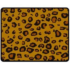 Classic Leopard Fleece Blanket (medium)