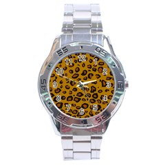 Classic Leopard Stainless Steel Analogue Watch