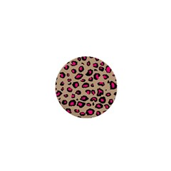Pink Leopard 2 1  Mini Magnets