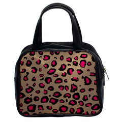 Pink Leopard 2 Classic Handbags (2 Sides)