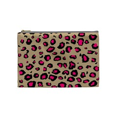 Pink Leopard 2 Cosmetic Bag (medium)