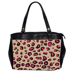 Pink Leopard 2 Office Handbags (2 Sides)