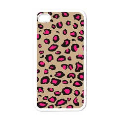 Pink Leopard 2 Apple Iphone 4 Case (white)