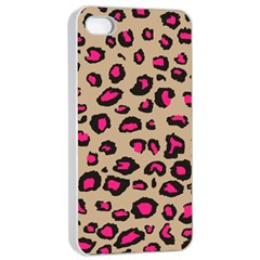 Pink Leopard 2 Apple Iphone 4/4s Seamless Case (white)