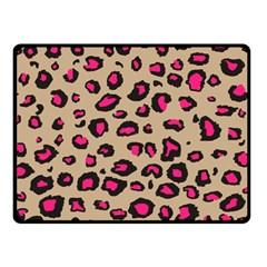 Pink Leopard 2 Double Sided Fleece Blanket (small)