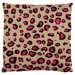 Pink Leopard 2 Large Cushion Case (two Sides)