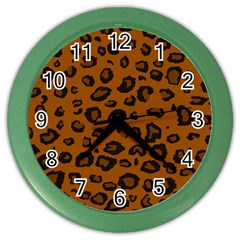 Dark Leopard Color Wall Clocks