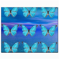 Blue Butterflies Canvas 8  X 10