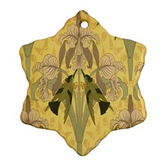 Art Nouveau Snowflake Ornament (two Sides)