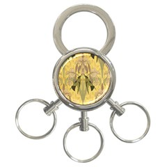 Art Nouveau 3 Ring Key Chains