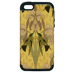 Art Nouveau Apple Iphone 5 Hardshell Case (pc+silicone)