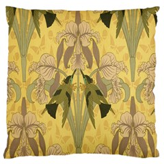Art Nouveau Large Flano Cushion Case (one Side)