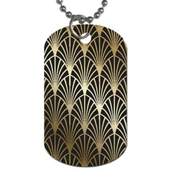 Art Deco Dog Tag (two Sides)