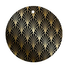 Art Deco Round Ornament (two Sides)
