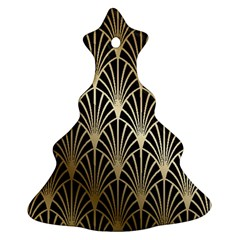 Art Deco Christmas Tree Ornament (two Sides)