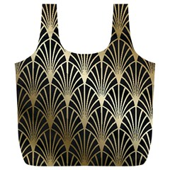 Art Deco Full Print Recycle Bags (l)