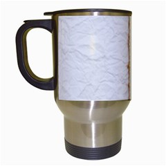 Parchement,lace And Burlap Travel Mugs (white)