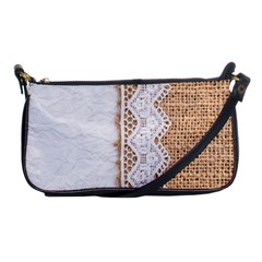 Parchement,lace And Burlap Shoulder Clutch Bags