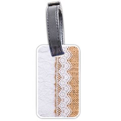 Parchement,lace And Burlap Luggage Tags (one Side)