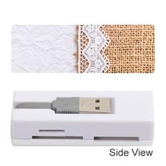 Parchement,lace And Burlap Memory Card Reader (stick)