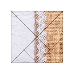 Parchement,lace And Burlap Acrylic Tangram Puzzle (4  X 4 )