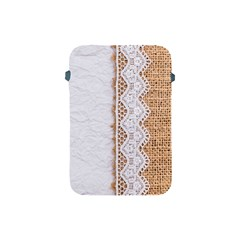 Parchement,lace And Burlap Apple Ipad Mini Protective Soft Cases