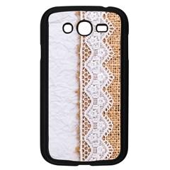 Parchement,lace And Burlap Samsung Galaxy Grand Duos I9082 Case (black)