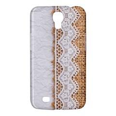 Parchement,lace And Burlap Samsung Galaxy Mega 6 3  I9200 Hardshell Case