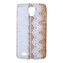 Parchement,lace And Burlap Galaxy S4 Active