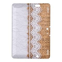 Parchement,lace And Burlap Kindle Fire Hdx 8 9  Hardshell Case